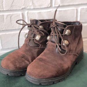 Rare vtg SOREL brown suede hiking winter boots 7
